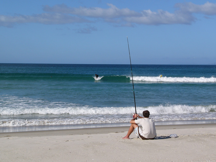 Surf fishing in Mozambique